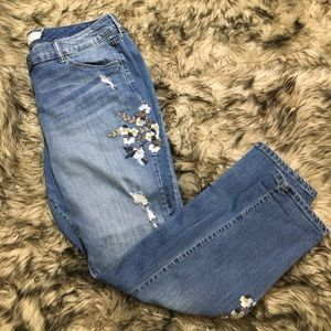 Torrid embroidered floral plus jeans 14